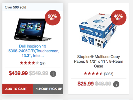 staples quick view add to cart
