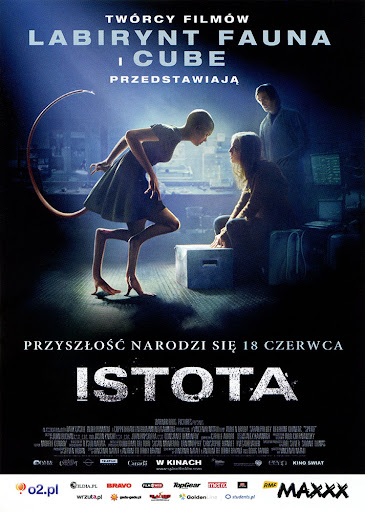 Przód ulotki filmu 'Istota'