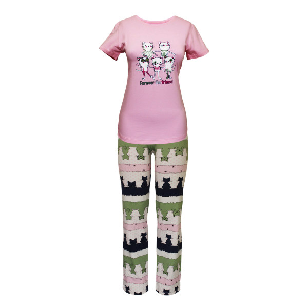 ست تی شرت و شلوار زنانه مدل FBFP 001