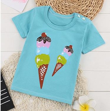 T-shirt niebieski dla dzieci