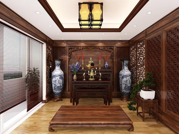 Thiết kế nội thất phòng thờ trọn gói giúp tiết kiệm chi phí