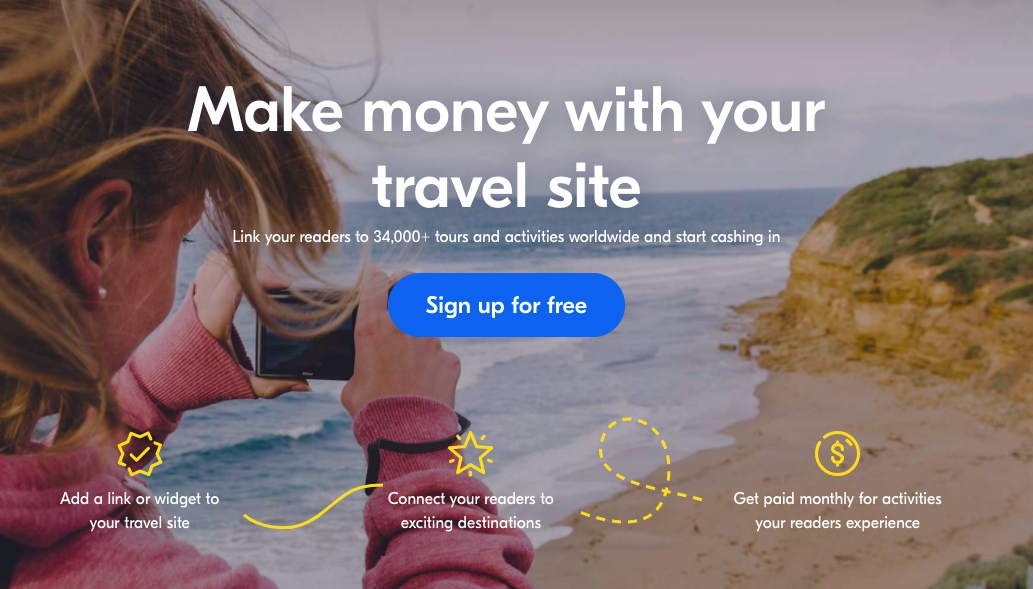 Get Your Guide make money with travel site