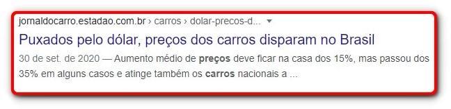 Manchete do Estadão: Puxados pelo dólar, preços dos carros disparam no Brasil