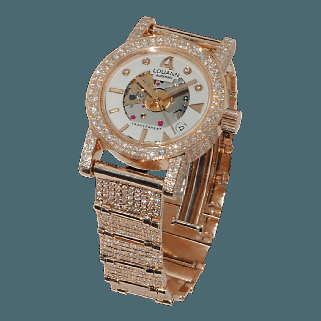 Photo of a LouAnn Transparent watch - a handmade luxury Greek watch