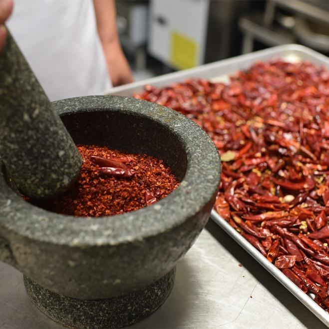 sichuan chili oil preparation
