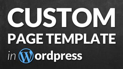 Image result for custom page creation using HTML for WordPress
