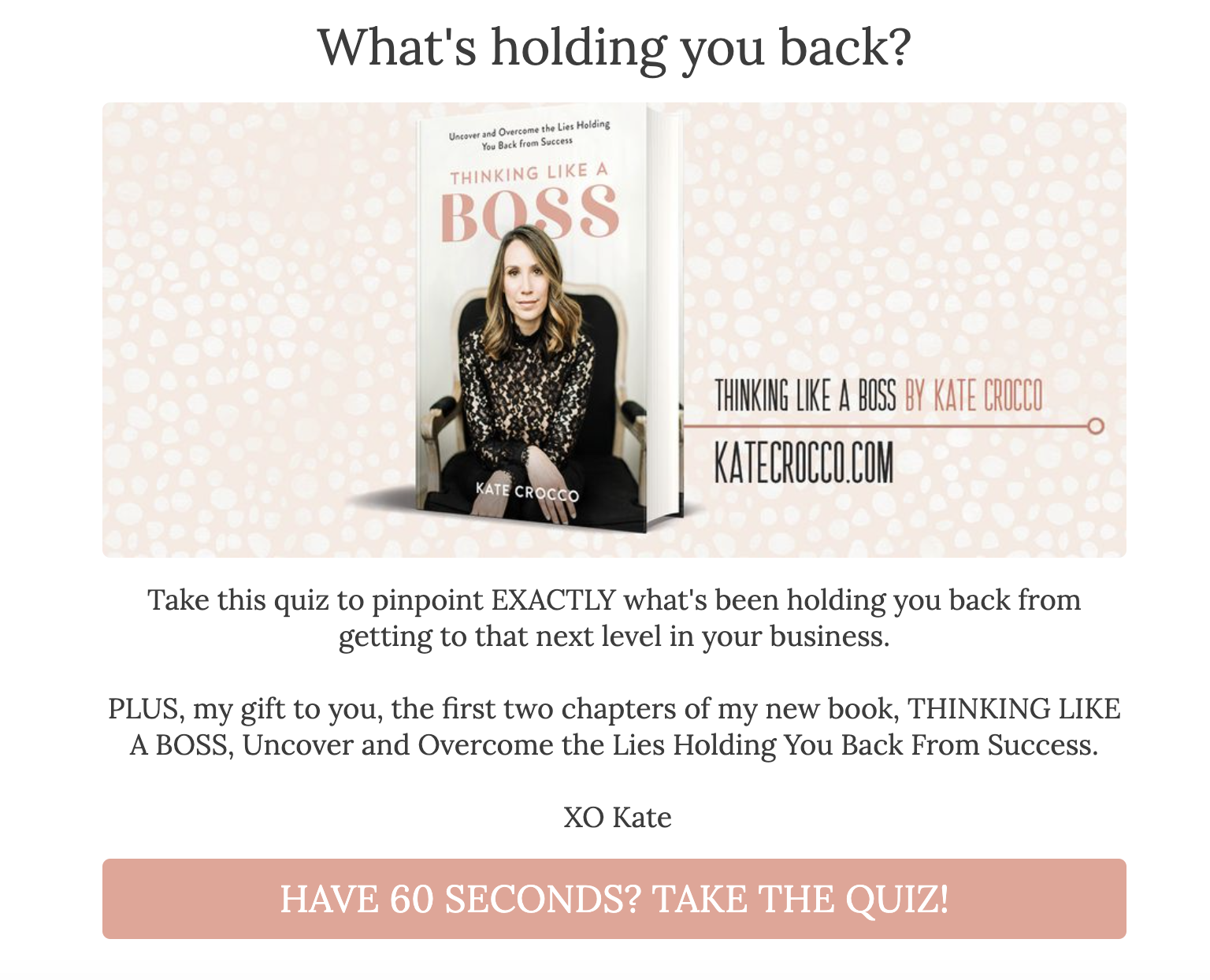 What's holding you back quiz cover