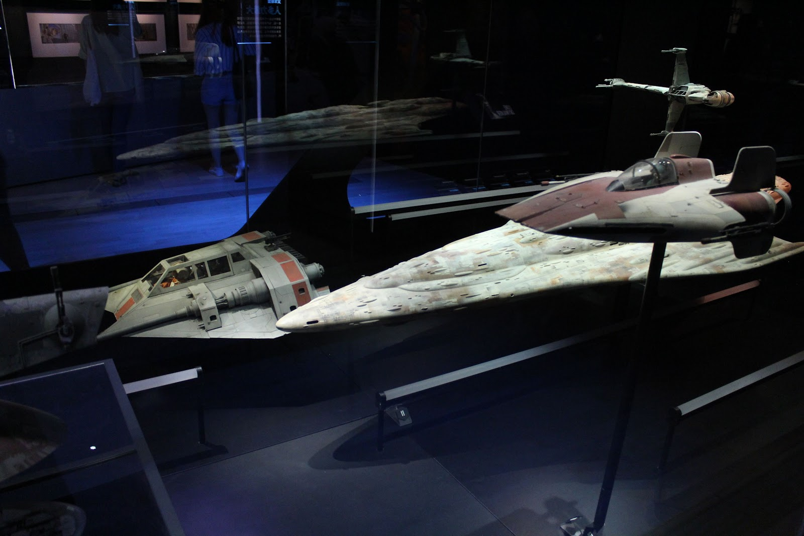 Models of Starfighters used in the films
