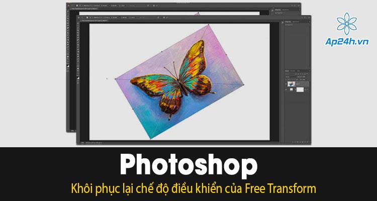 Thay doi dieu khien Free Transform trong Photoshop