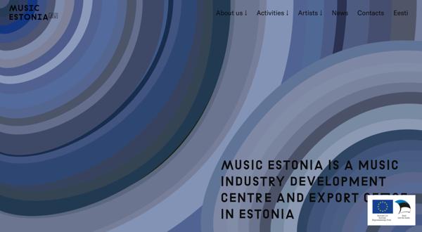 Beautiful website built on Voog: musicestonia.eu