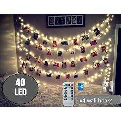 40 LED Photo Clip String Lights