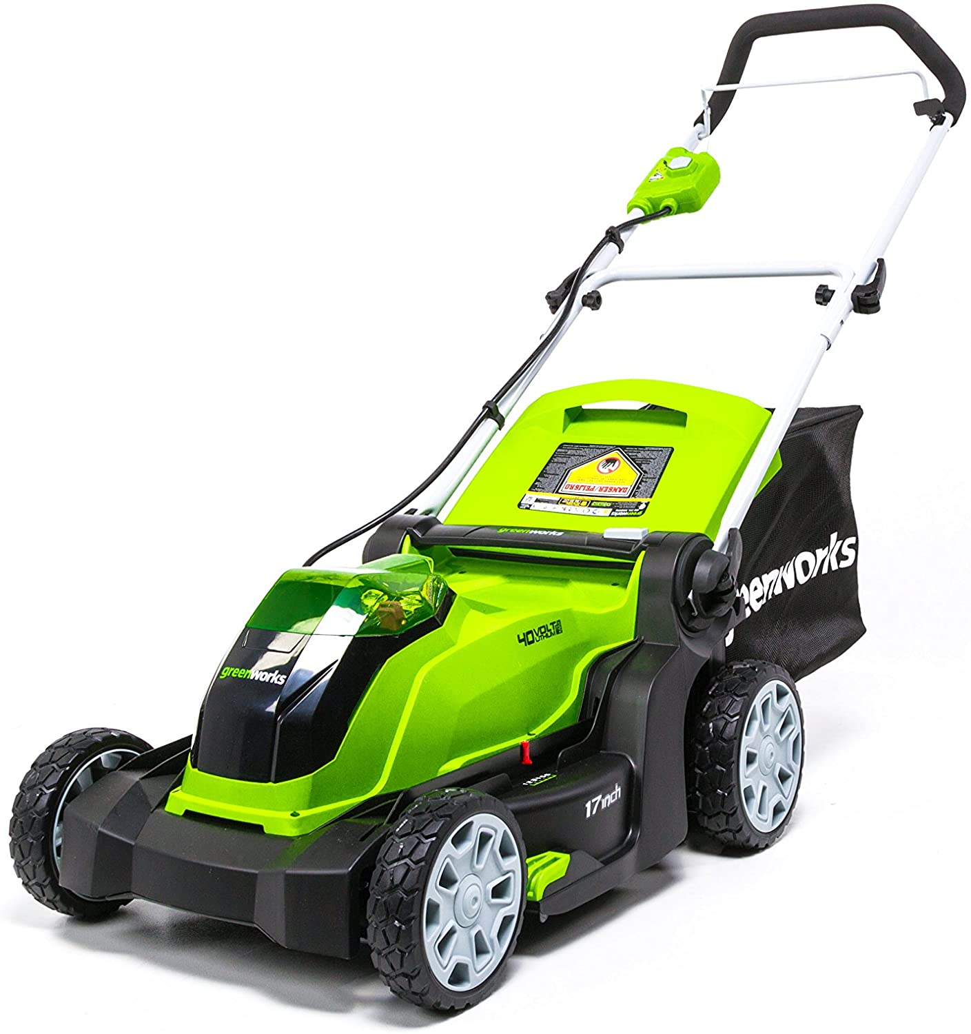 Best cordless mowers:  Greenworks 17-Inch 40V Cordless Lawn Mower
