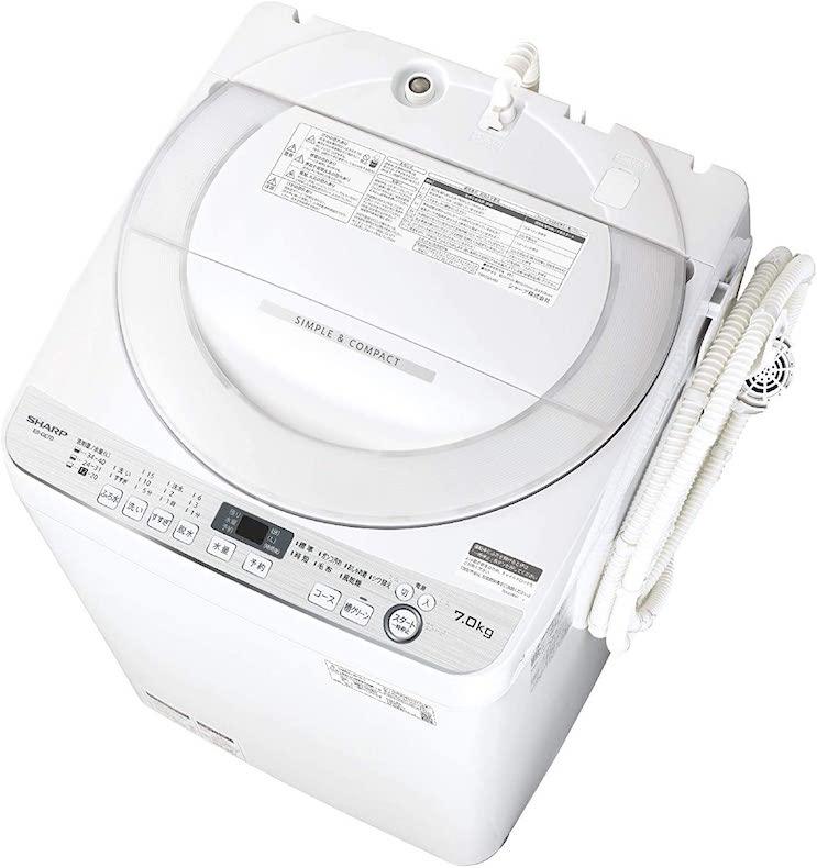 シャープ洗濯機ES-GE7E-W