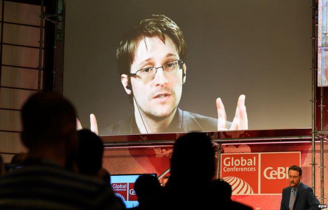 Эдвард Сноуден выступает на конференции по кибербезопасности через видеосвязь