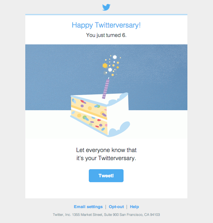 anniversary email sample