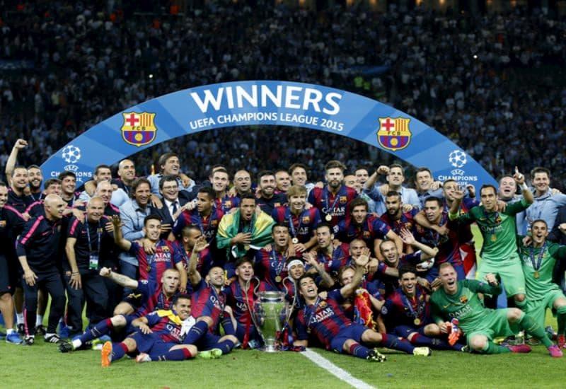 Barca đã 5 lần giành được chức vô địch tại cúp C1