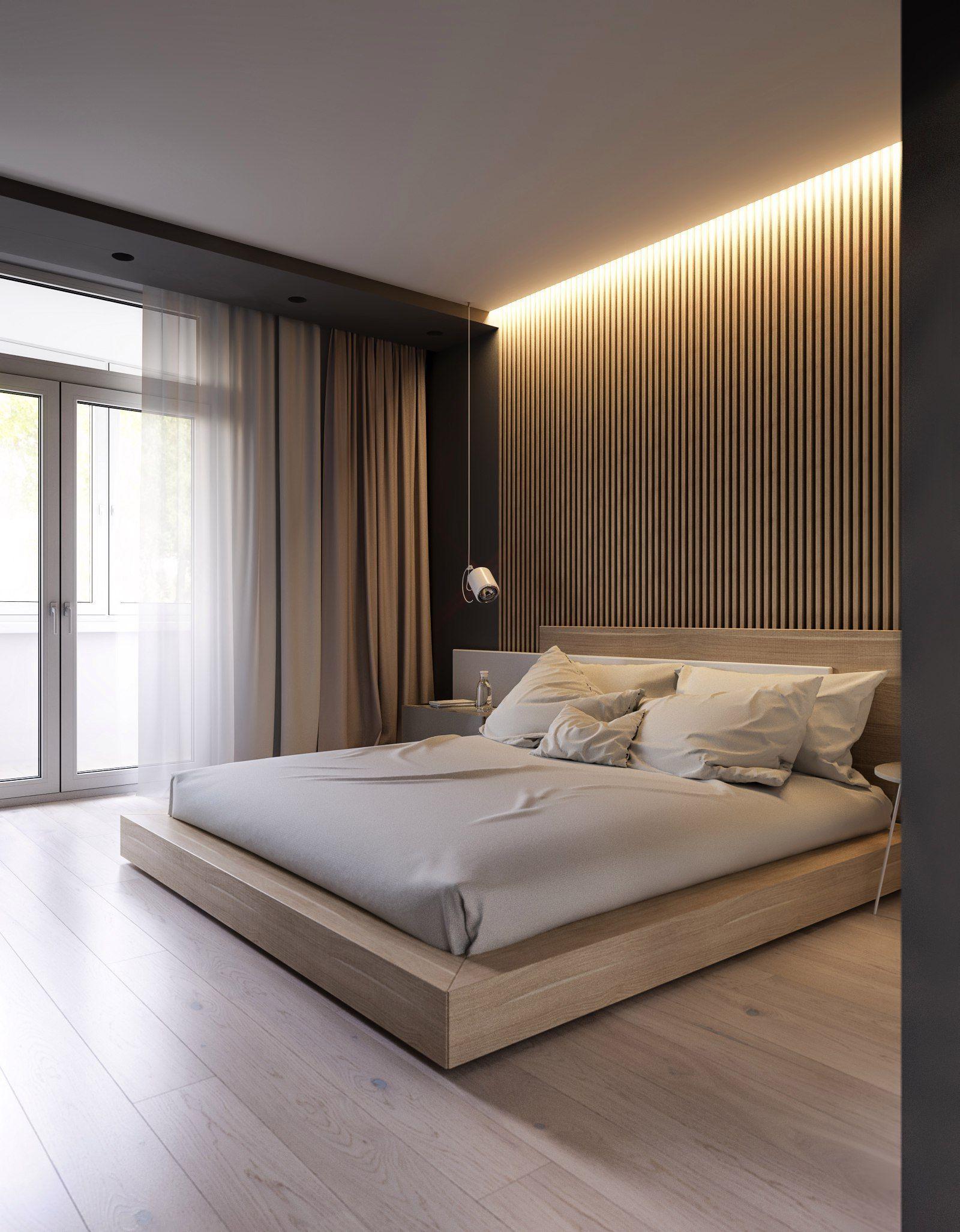 Nội thất gỗ công nghiệp màu nhạt nhẹ nhàng