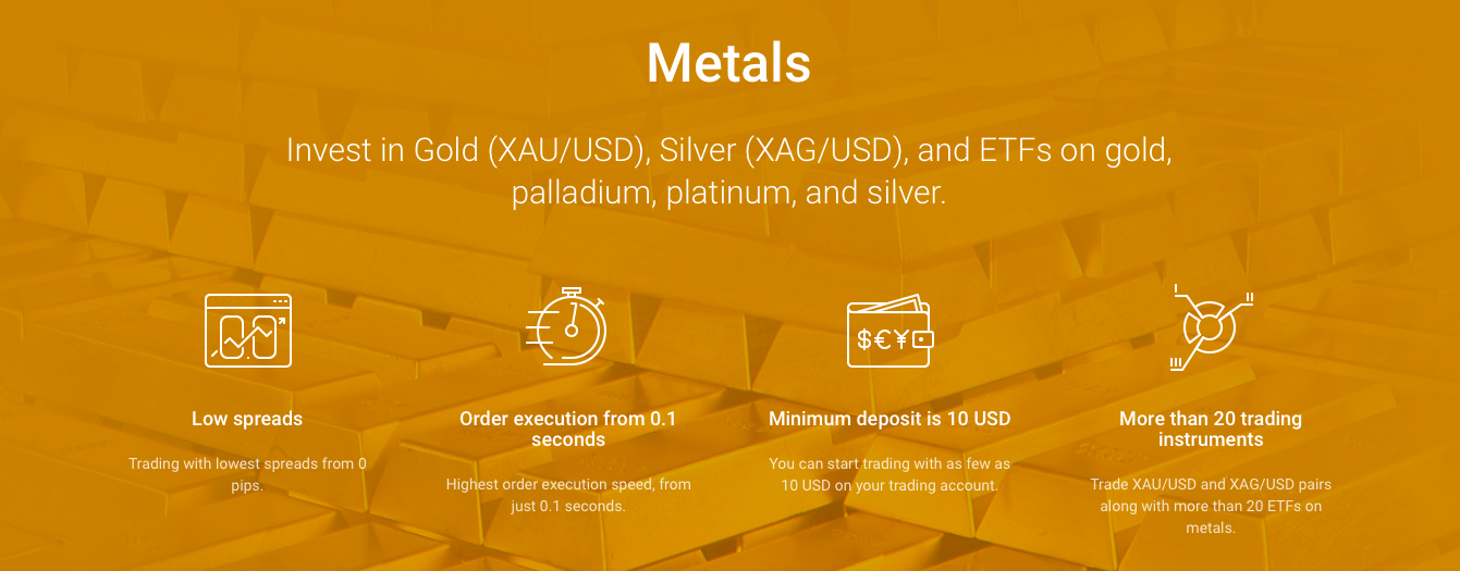 roboforex metals