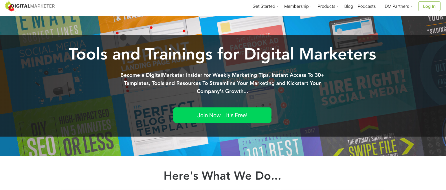 Learn Marketing: This is one of the best online digital marketing teaching websites you will find online.