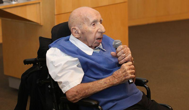 Dr. Jeremiah Stamler at Northwestern University Feinberg Medical School at a celebration for his 100th birthday in the fall.