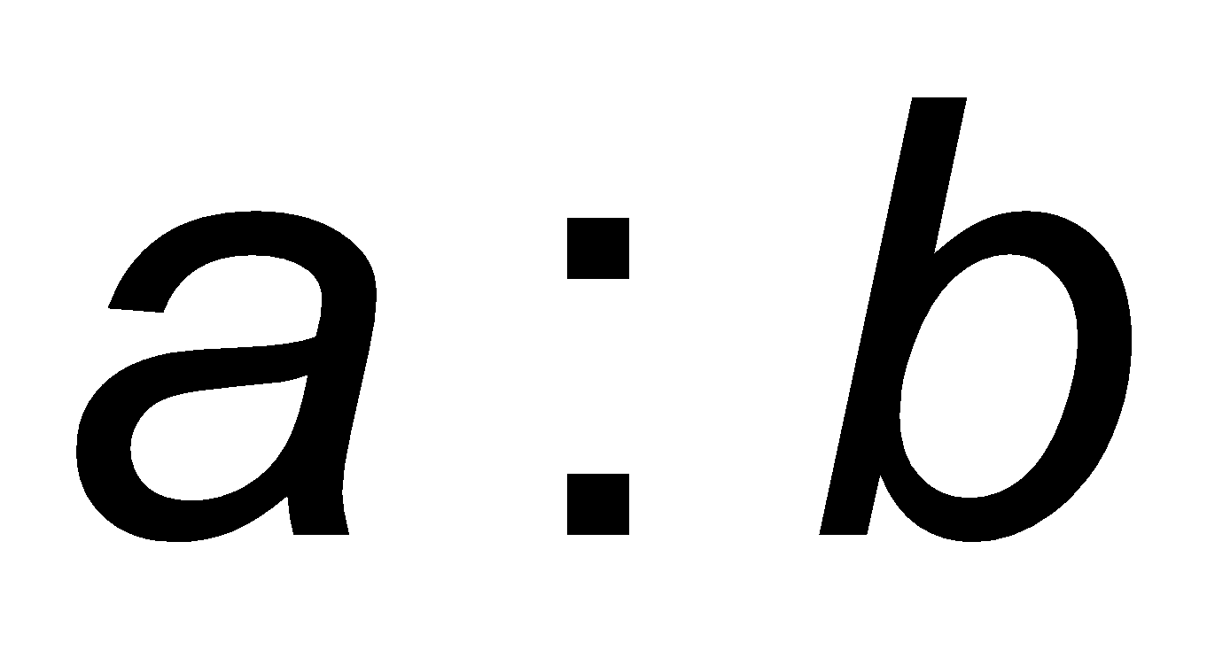 The ratio is used to compare two quantities