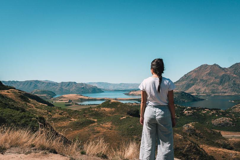 View of Lake Wanaka and Wanaka Town