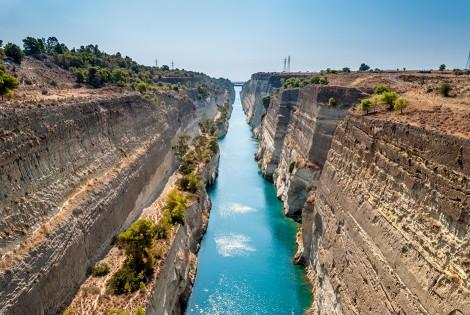 The Canal of Corinth-Isthmus