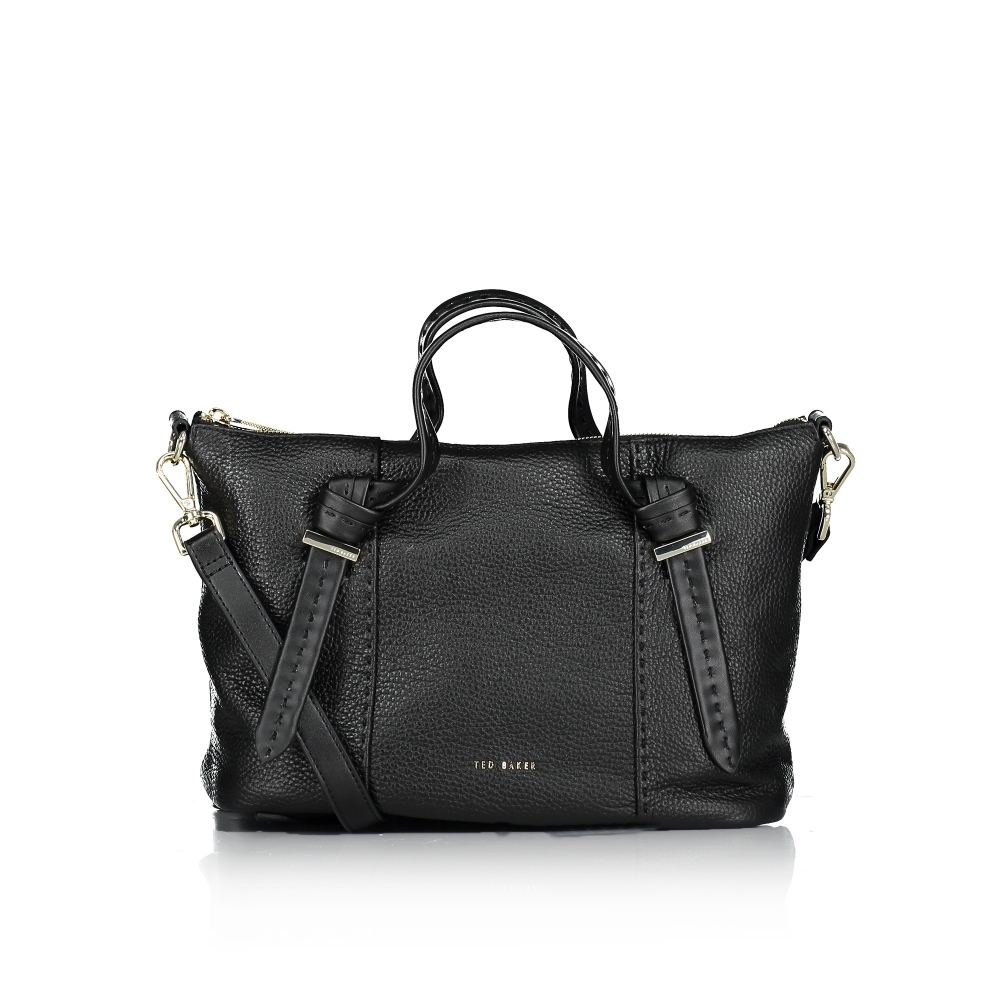 Olmia Knotted Handle Small Leather Tote