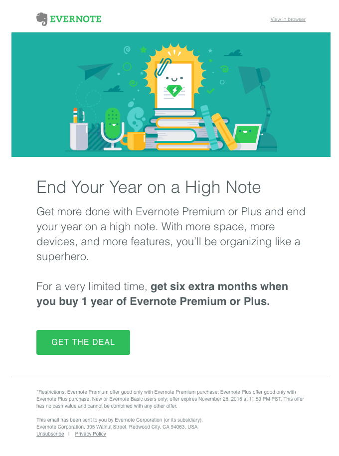 Cross-Selling Strategy: Evernote