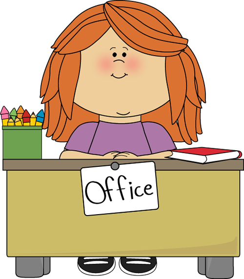 Person sitting at office desk