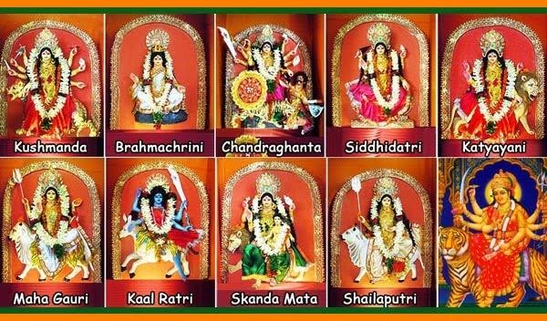 Different Forms of Goddess Durga Devi   9 Forms of Maa Durga - Temples In  India Info - Slokas, Mantras, Temples, Tourist Places
