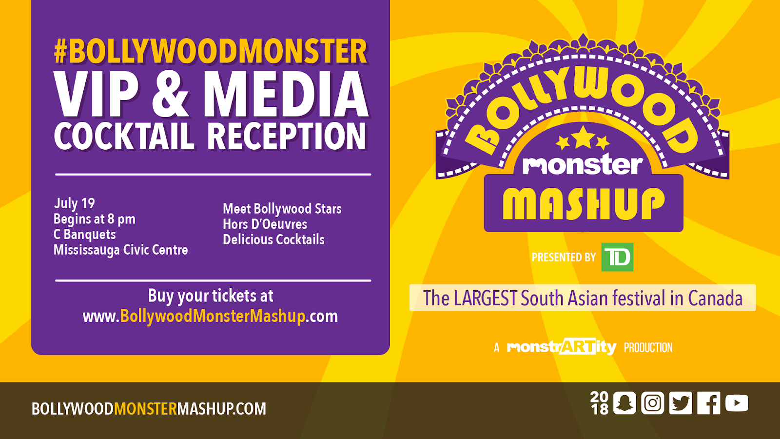 Bollywood stars to mingle in Mississauga at the #BollywoodMonster VIP reception
