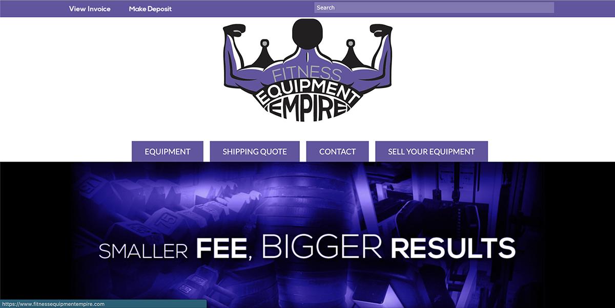 Fitness Equipment Empire Website Screenshot