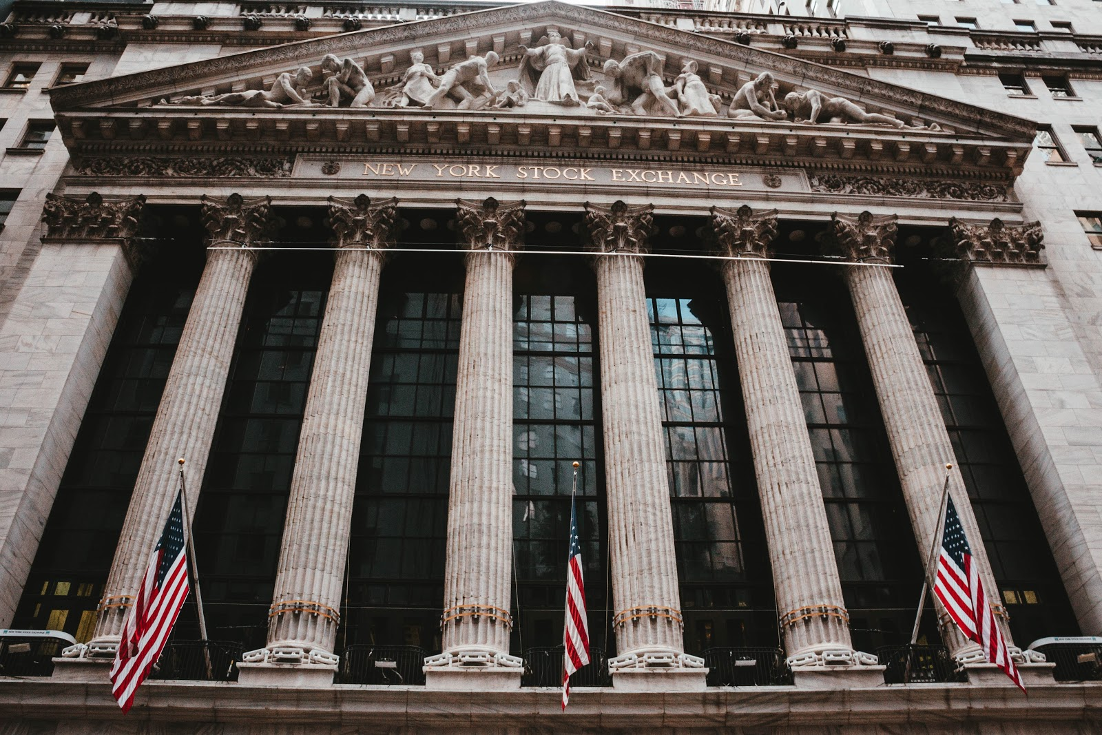 A photo of the New York Stock Exchange
