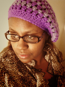 Free pattern: Cluster Beret slouchy hatLavender Blue and Grape