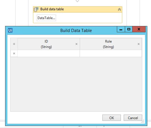 create newDatatable