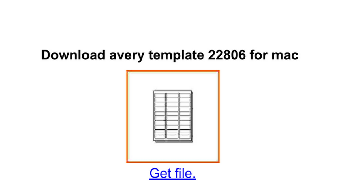 download avery template 22806 for mac google docs