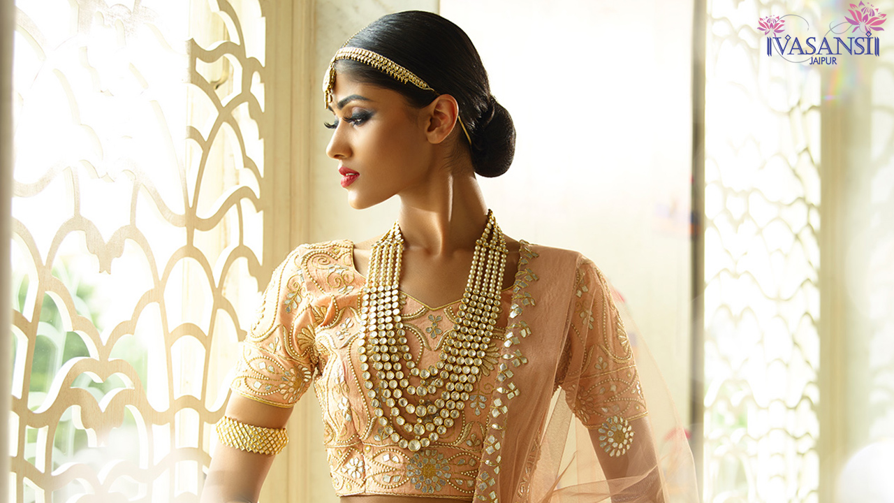Designer Party Wear Bridal Wedding Lehenga Set from Vasansi