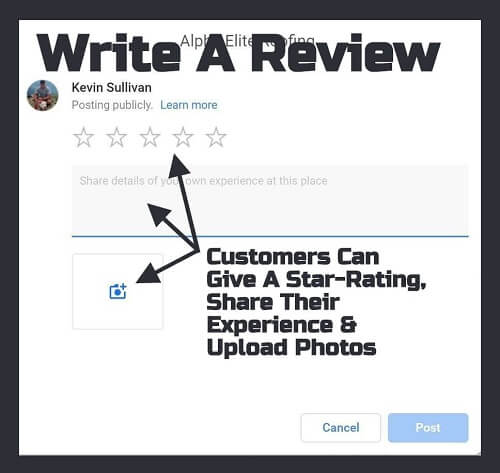 """Write a Review"" Popup"