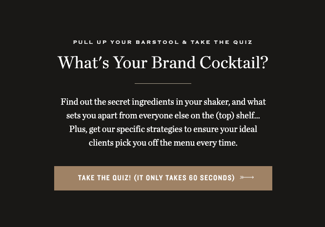 What's your brand cocktail quiz cover