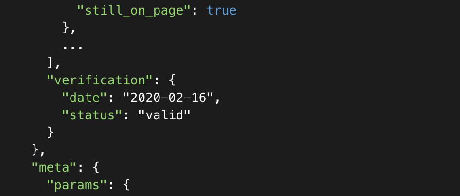 Email Finder API verification status