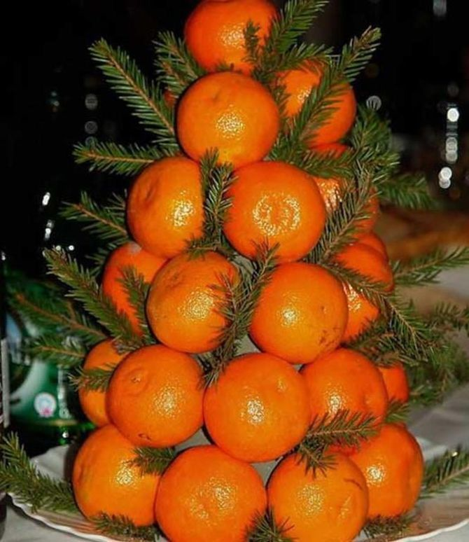 Tangerine decorations for New Year 4