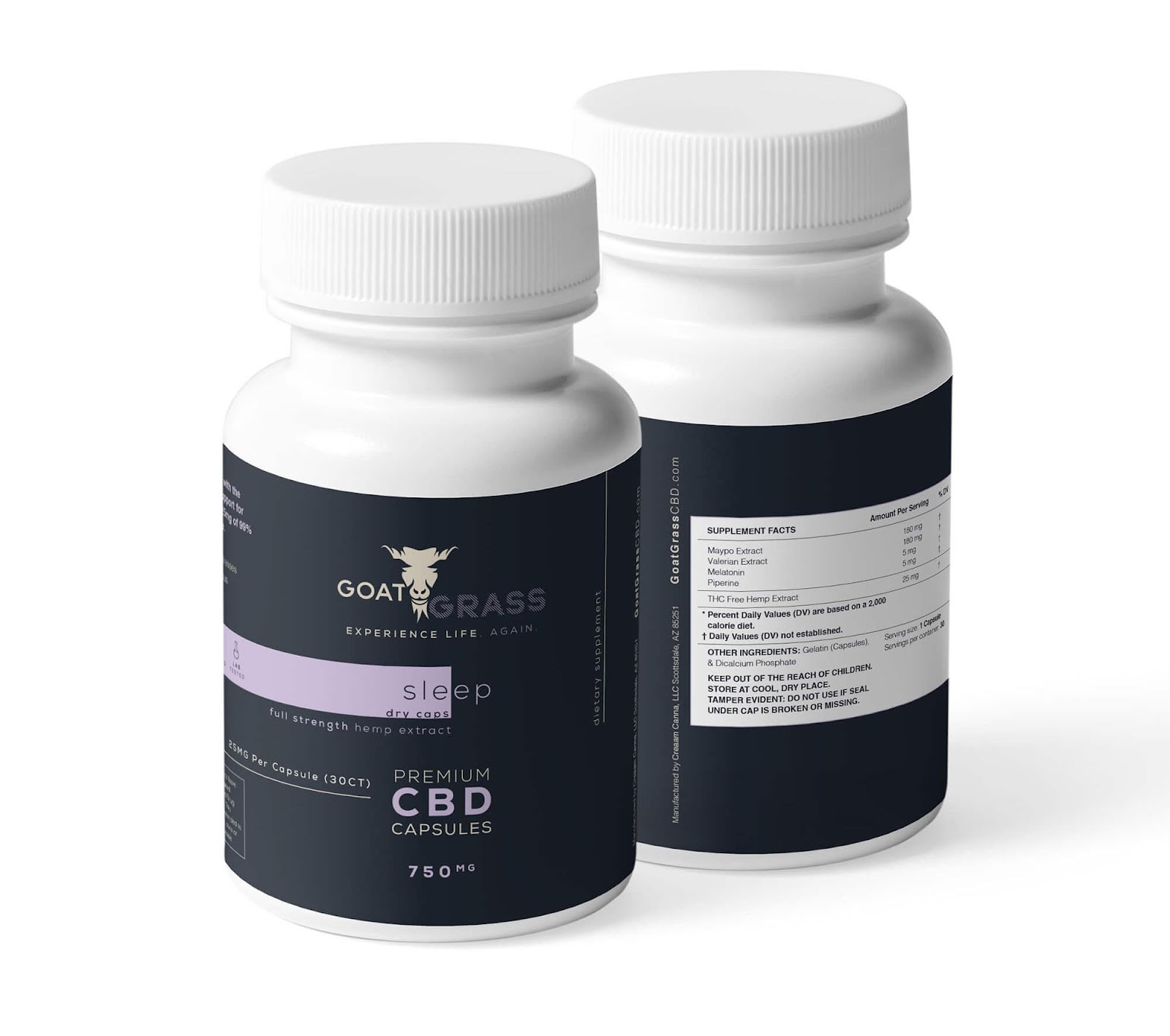 CBD Capsules, CBD Pills, Sleep Pills, Goat Grass CBD, Can CBD Help Sleep