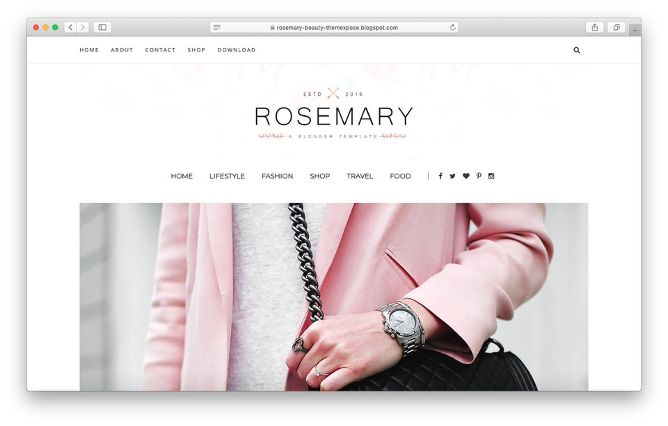 Template Blogger Responsive Rosemary