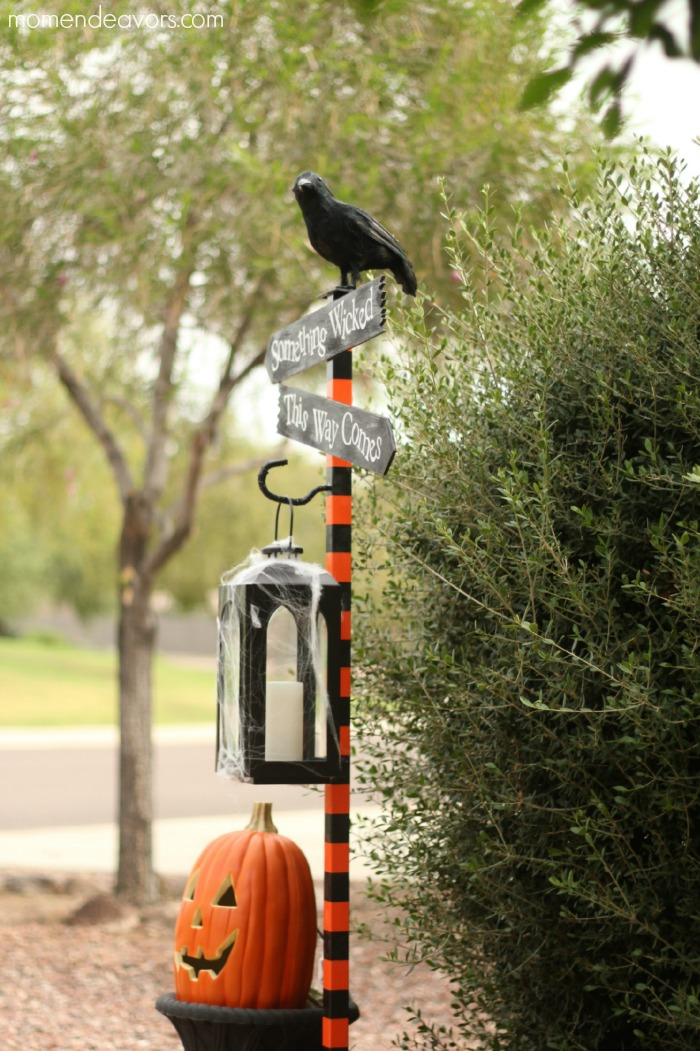 Directional Sign Post: These 30 DIY Halloween Decorations That Are Wickedly Creative will save you money and allow your creativity to flourish