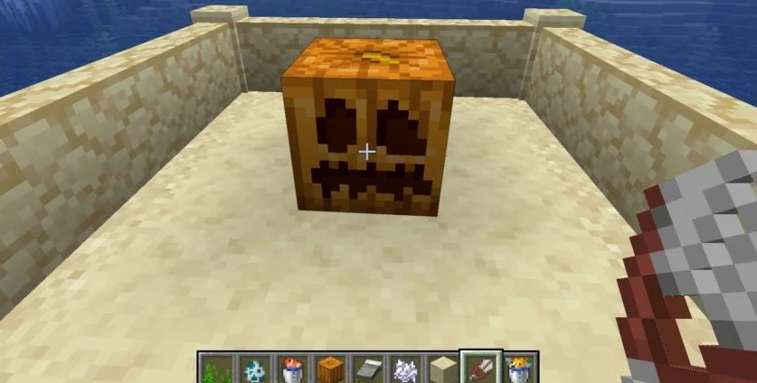 How to make a carved pumpkin in Minecraft 2