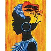 canvas painting design - African Woman