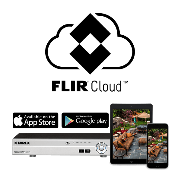 Access your security system from anywhere in the world with FLIR Cloud connectivity