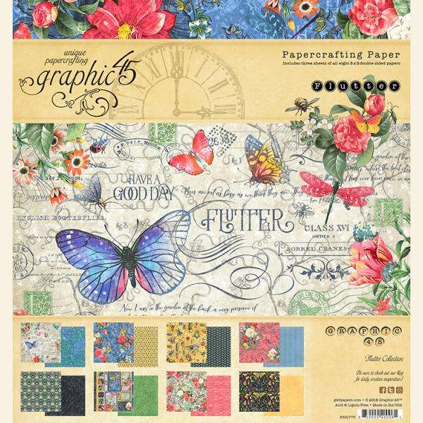 Flutter 8x8 Paper Pad