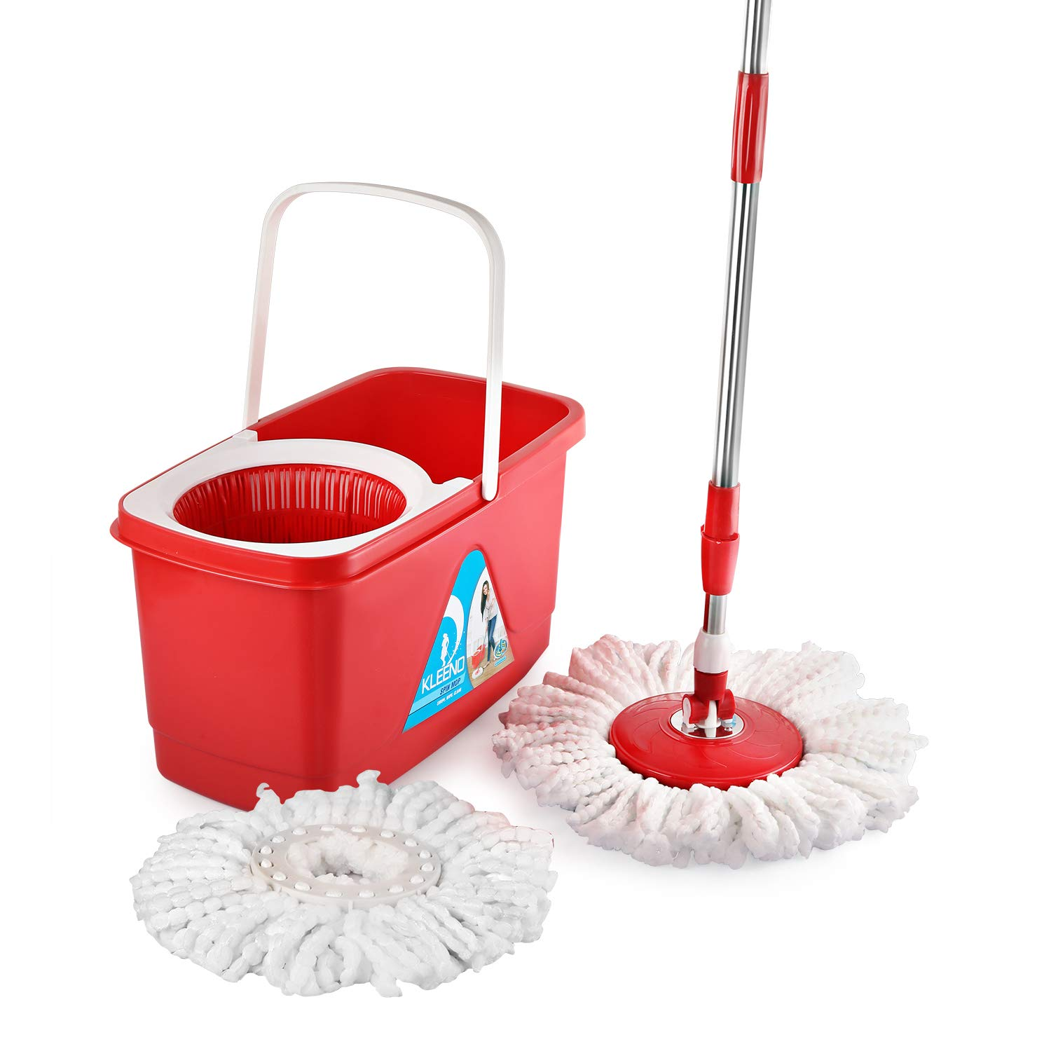 Cello Easy Clean 360 Degree Plastic Bucket Spin Floor Cleaning Mop